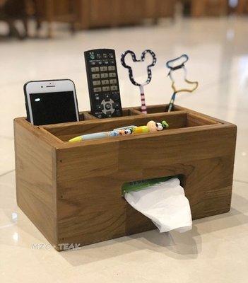 【美日晟柚木家具】柚木面紙盒 木製收納...