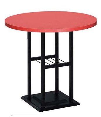 【台南滿5000元免運費】全新 60cm 紅色 圓桌 用餐桌 咖啡簡餐桌 西餐桌 大台南冠均家具批發 B760-02