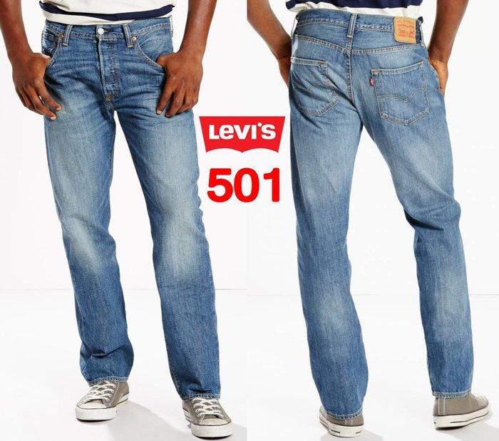 【超搶手】全新正品 USA Levis 501 2242 Jean Original Fit 水洗 刷紋 藍色 牛仔褲