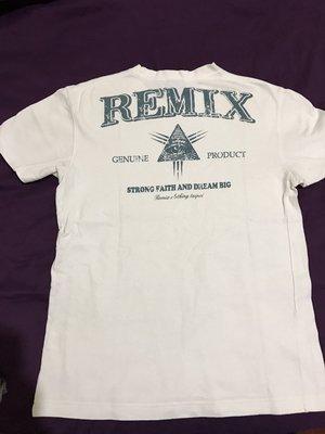REMIX 早期  ALL SEE 真知之眼  白色 M號 4成新 remix wing logo 有汙點 領口小鬆