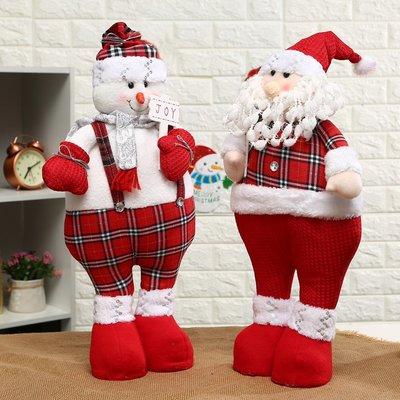 聖誕節禮物雪人聖誕老人公仔擺件聖誕樹裝扮道具兒童聖誕布偶娃娃