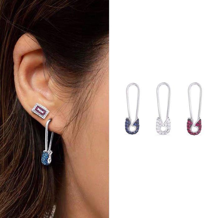 💎1142、(三色規格任選)80s小怪獸系列 高端名媛別針造型耳環(單邊)💎正韓飾品 耳環 珠寶 925純銀針