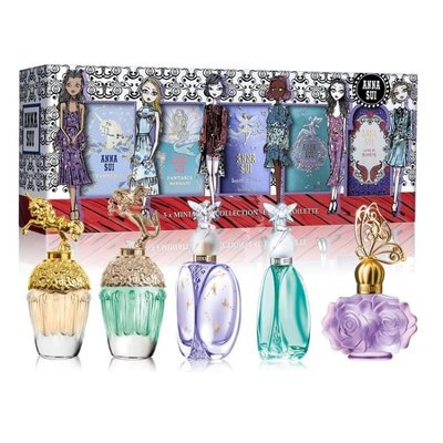 ANNA SUI 安娜蘇 插畫女孩迷你小香禮盒 《5ML*4  4ML*1》 ✪棉花糖美妝香水✪