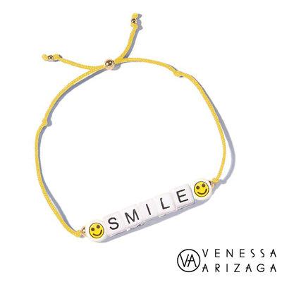 Venessa Arizaga SMILE 笑臉手鍊 亮黃色手鍊