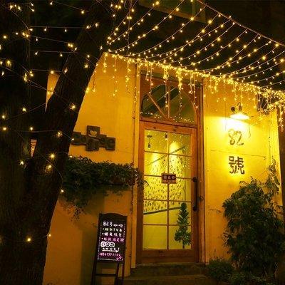 現貨LED燈串 聖誕燈10米100燈插電防水款滿天星燈串 可串連燈串 婚慶燈星星燈 臥室裝飾燈 露營燈櫥窗燈萬聖節造景燈