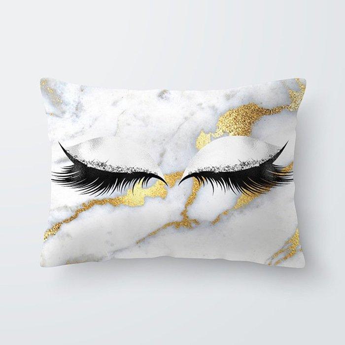 歐美熱賣 眼睫毛腰枕套 抱枕套 靠枕 個性抱枕 客廳 房間 民宿 咖啡廳店面裝飾 |悠飾生活|