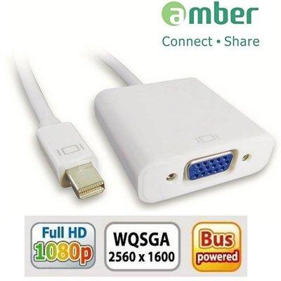 【京.DP】amber mini DP to HDMI 訊號轉換器 mini DP轉VGA 螢幕線 支援蘋果 聯想筆電