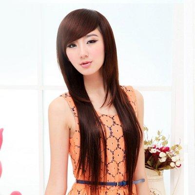 水媚兒假髮9M005♥新款女士假髮 斜瀏海 長直假髮♥ 現貨或預購