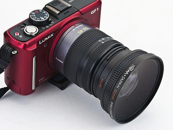 呈現攝影-ROWA 外接式廣角鏡 52mm 0.45x 新版 外口徑72mm近攝鏡 Macro14-42mm Gx1 GF5
