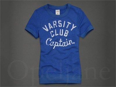 599元 美國官網 Abercrombie & Fitch A&F AF 麋鹿藍色圓領 短T T恤 XS號愛Coach包