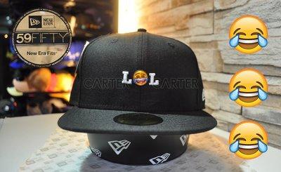 New Era x Emoji Lol Black 59Fifty FB 表情符號大笑到哭黑色全封尺寸帽