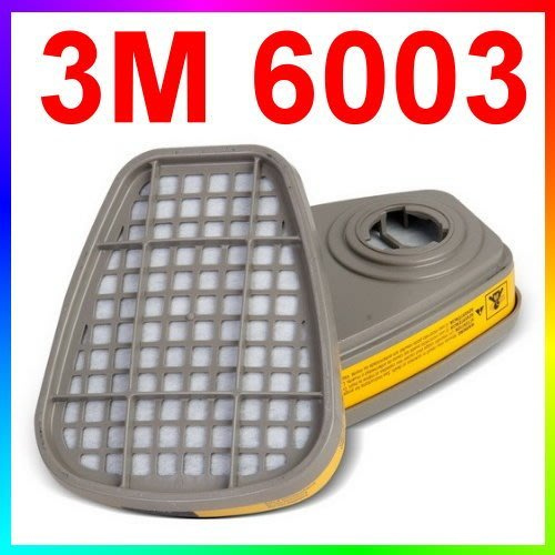 {CF舖}3M 6003 有機/酸性氣體濾毒罐 2個入(6200 6502 6800 7502防毒面具用)(另有濾蓋濾棉