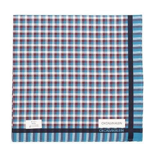 【姐只賣真貨】Calvin Klein CK交錯格紋紳士純綿手帕帕巾(藍綠/紅色) 48*48CM 父親節88節禮物