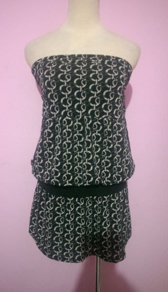 Spiral Girl 黑色造型平口長版衣/小可愛(54)