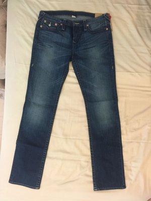 True religion 女生牛仔褲slim straight size:33全新品,僅此一件,大尺寸牛仔褲jeans