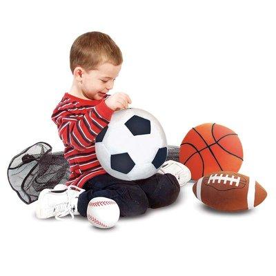 【晴晴百寶盒】美國進口 幼兒布製軟球 Melissa&Doug 手眼協調 肢體協調 環保無毒玩具 辨識圖型 W702