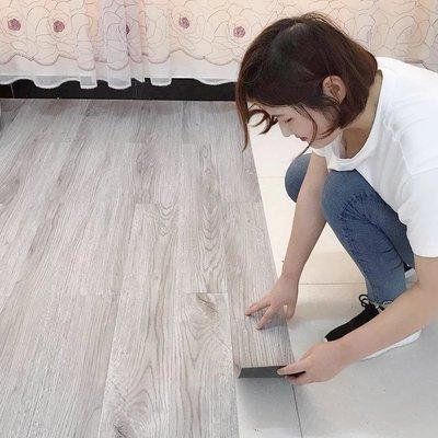 自黏式仿木紋質感地板貼 木紋地板 PVC 阻燃防水耐磨【HF100】