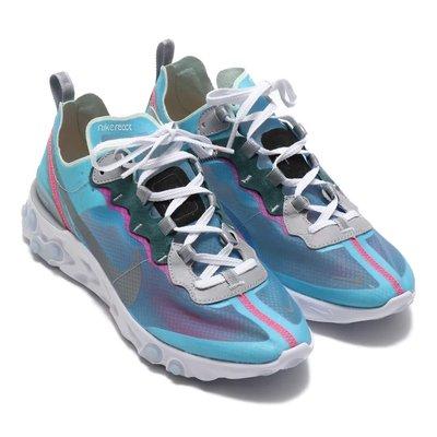 R'代購 Nike React Element 87 Royal Tint 冰藍 透明 AQ1090 400 男女