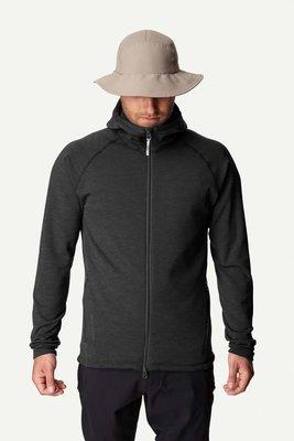 HOUDINI 瑞典高端戶外 Outright 北歐極簡約設計 輕量保暖刷毛中層連帽外套 POWER Houdi岩石黑S
