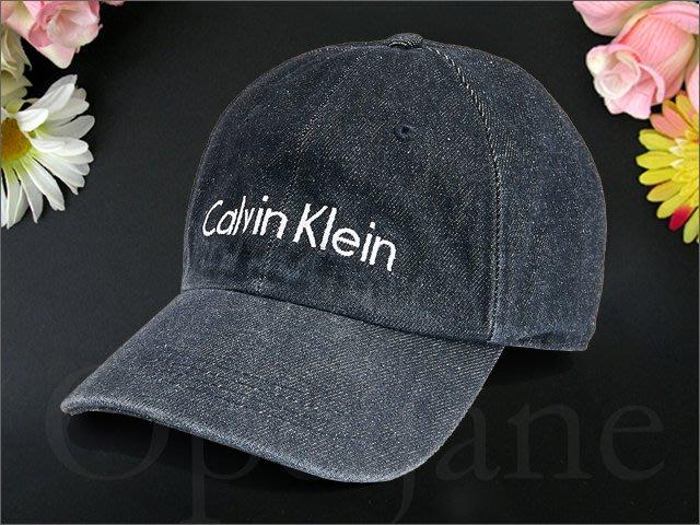 CK Calvin Klein Hat 卡文克萊 黑色 牛仔布單寧棒球帽防曬遮陽帽高爾夫球帽可調整帽圍 愛Coach包包