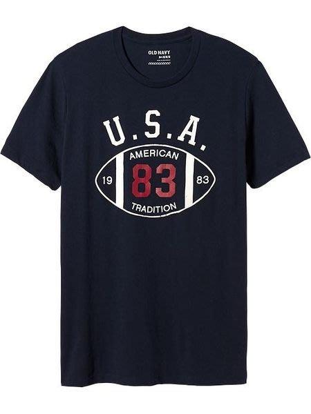 【BJ.GO】 Old Navy_男裝_Men's Team-Style Graphic Tees 經典USA圓領T恤 2014 官網新品現貨M號