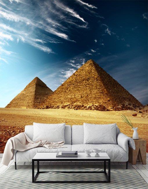 客製化壁貼 店面保障 編號F-282 埃及金字塔 壁紙 牆貼 牆紙 壁畫 星瑞 shing ruei