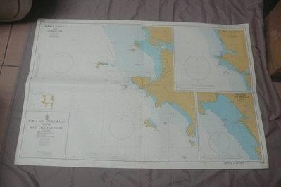 紫色小館90-1-DEPTHS IN METRES-航海圖-KARWAR HARBOUR AND APPROACHES