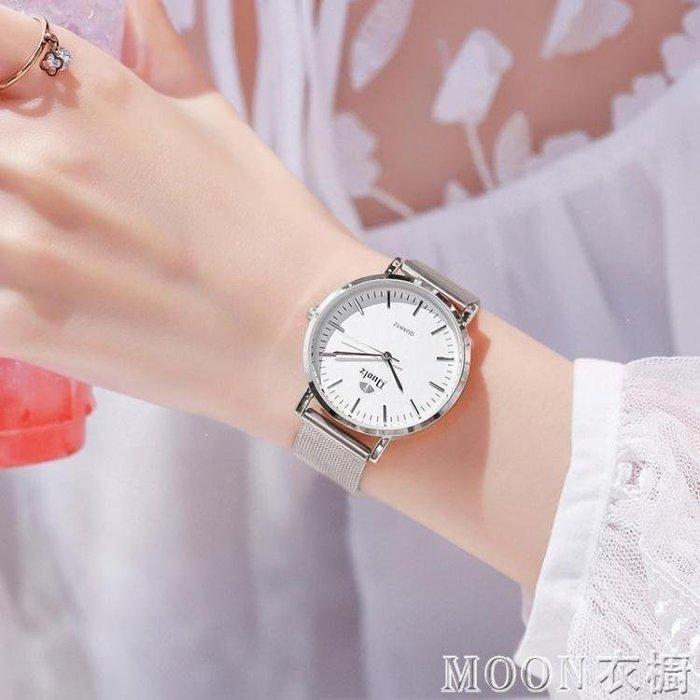 麥麥部落 手錶女士學生正韓簡約式式百搭防水休閒大氣石英女錶同款N衣櫥MB9D8