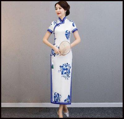 ~~Miss Goddess~~長款旗袍新款女中國風民國老上海復古走秀演出服改良式連衣裙