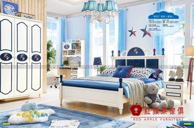 [ 紅蘋果傢俱 ] LOD-8321兒童家具 兒童床 造形床 王子床 雙人床 床組 床架 數千坪展示
