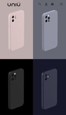 UNIU IPhone 12 Pro Max NEAT 極簡主義矽膠殼 耀石黑(二手良品)