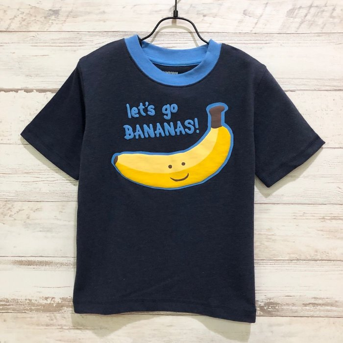 Maple麋鹿小舖 美國購買童裝品牌 GYMBOREE 男童藍色香蕉圖樣短T * ( 現貨3T )