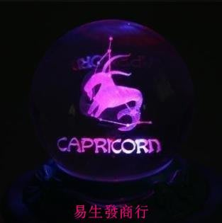 【易生發商行】摩羯座水晶球音樂盒八音盒...