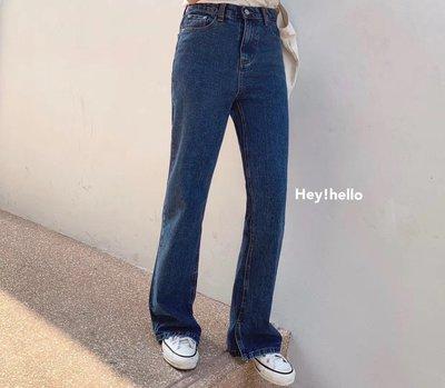 (現貨)韓國春夏高腰顯瘦牛仔寬褲喇叭褲