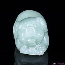 Little-Luck~新疆和闐玉生肖豬玉把件和闐青白玉玉招財豬掛件玉手玩件手把件