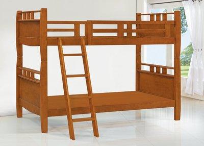 【南洋風休閒傢俱】精選時尚床 雙層床 木頭床 上下床 兒童床 -日格3.5尺實木雙層床 CY131-888