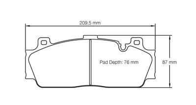 =1號倉庫= PAGID RSC1 來令片 煞車皮 BMW F10 M5 陶盤 陶煞 陶瓷煞車