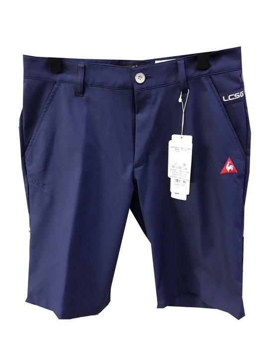 藍鯨高爾夫 公雞 le coq sportif 春夏 男短褲(深藍色)#QGH83851-3982