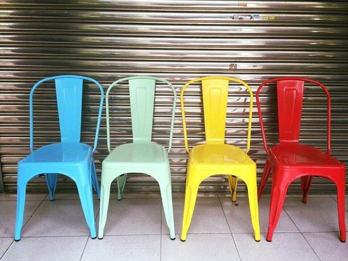 【 一張椅子 】現貨 法式復古工業風 復刻版 loft tolix chair 金屬鐵椅 餐椅