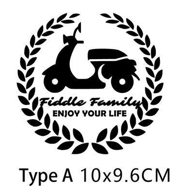 峰格壁貼〈Fiddle Family 車貼〉車貼  反光色下單處 結帳時請知6色中挑哪色