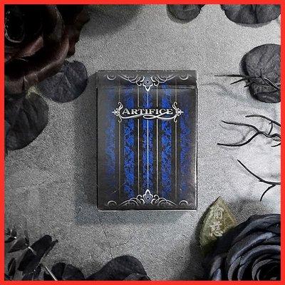 橙子的店瑜慈 Blue Artifice藍色詭計V2白邊 進口花切撲克魔術收藏紙牌