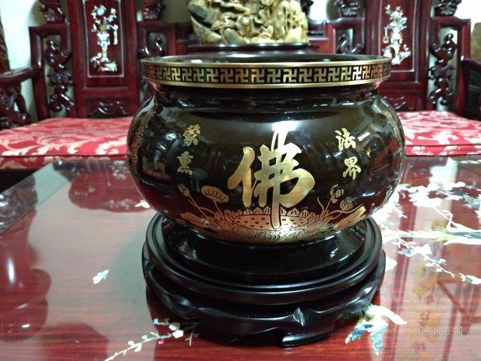 全純銅大香爐/高18.2公分直徑30公分重量8.6公斤/9成新/便宜賣