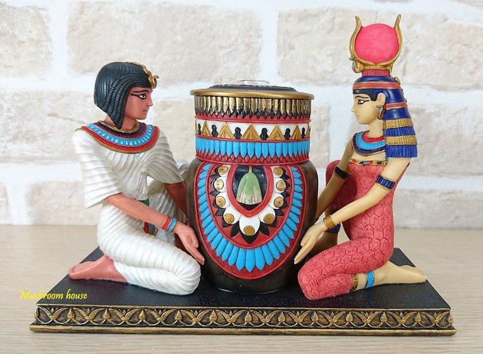 點點蘑菇屋 歐洲精品~埃及國王與皇后精緻室內擴香瓶 香水瓶 芳香瓶 香水罐 薰香瓶 藝術品擺飾 現貨 免運費