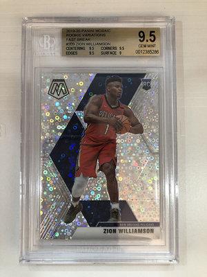 2019-20 NBA Panini Mosaic Zion Williamson 變體版新人卡 珍珠亮 BGS9.5