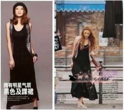 【NAINAIS】Style‧E283 VIVI 海洋音樂季 LENA 單穿內搭單品 超修身薄款長版洋裝 現貨 特價190