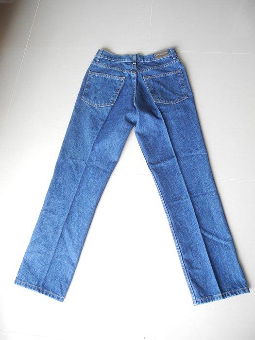 KIRKLAND藍色修身直筒牛仔褲墨西哥製 30腰 褲長104 臀圍平量55cm 漂亮版挺 9.9極新下水未穿過沒有汙損