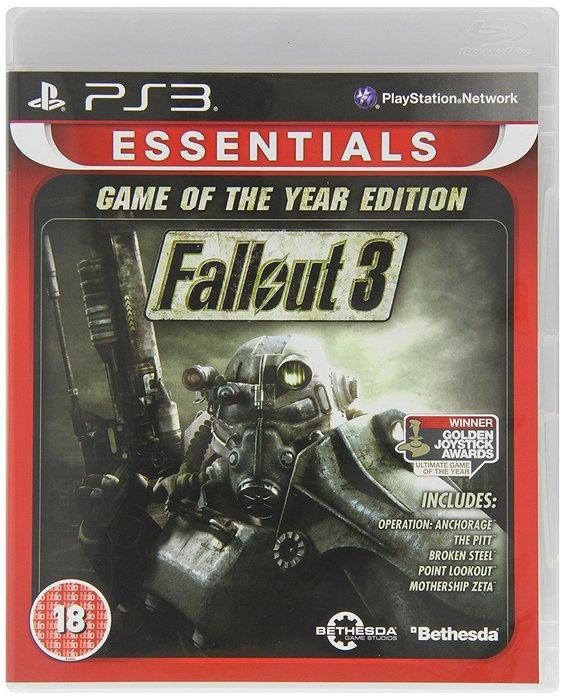 全新未拆 PS3 異塵餘生3 年度完整版 Fallout 3 -英文版-