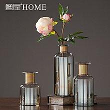 〖洋碼頭〗歐式透明玻璃花瓶 現代簡約時尚插花花器 家居客廳餐桌裝飾品擺件 ywj423