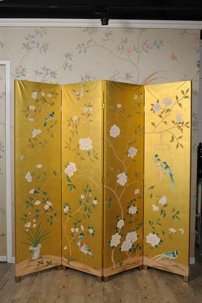 【芮洛蔓 La Romance】東情西韻系列雙面手繪金銀箔屏風 (展示品出清)