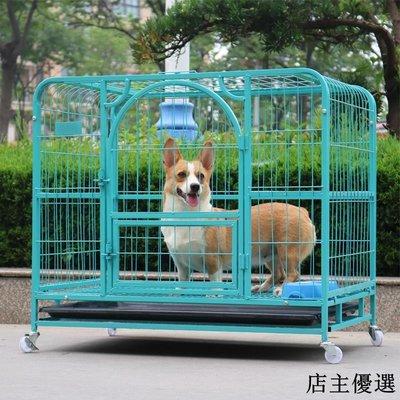 寵物籠狗籠寵物窩加粗金毛狗籠子中型大型犬狗籠拉布拉多狗籠小型犬
